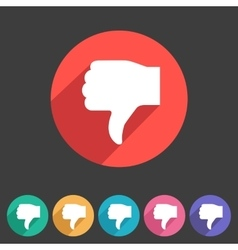 Thumbs down dislike icon flat web sign symbol logo vector