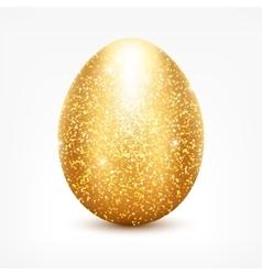 Golden glitter egg vector