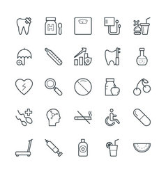 Medical and health cool icons 9 vector