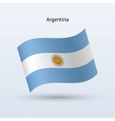 Argentina flag waving form vector