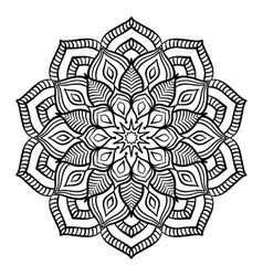 Black mandala coloring page vector
