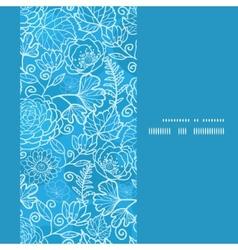 Blue field floral texture vertical frame seamless vector