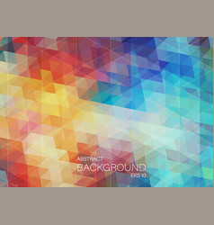bright triangle background vector image