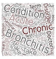 bronchitis text background wordcloud concept vector image