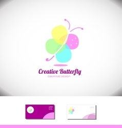 Butterfly spa beauty salon logo vector image