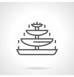 Chocolate fountain black line icon vector image