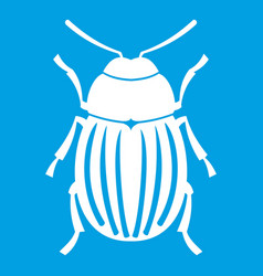 Colorado potato beetle icon white vector