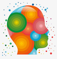 Colorful human head icon vector