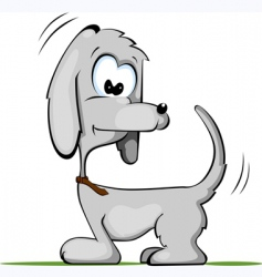 comic dog vector image vector image