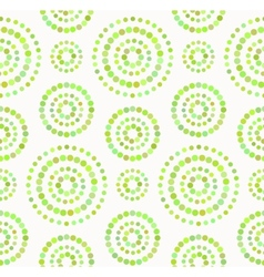 Dots circles seamless pattern in shades of green vector