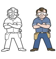 Hamdyman cartoon vector