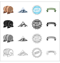 Holiday bavaria germany and other web icon in vector