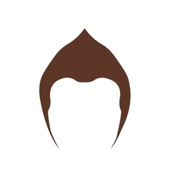 isolated hairstyle icon image vector image