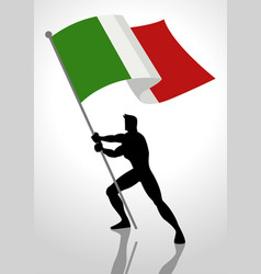 Italy flag bearer vector