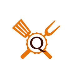 Logo restaurant letter q vector