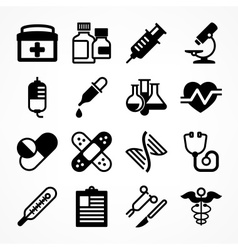 Medical icons on white vector