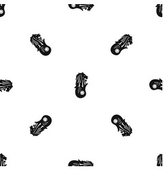 Merlion statue singapore pattern seamless black vector