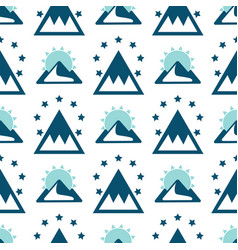 mountain exploration vintage background vector image vector image