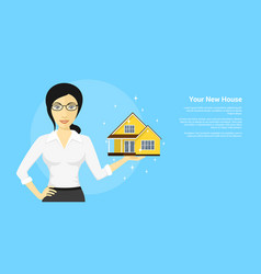 new house advertisement vector image vector image