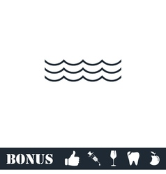 Ocean or sea icon flat vector image vector image