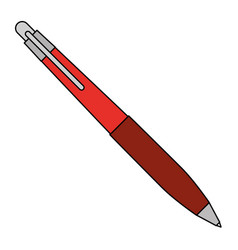 Pen office or school stationery accessory vector