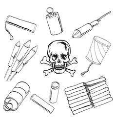 Petard set vector image