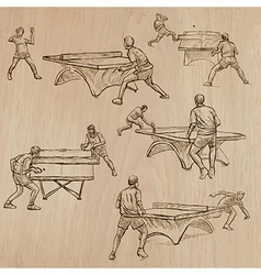 Ping Pong - Freehands Pack vector image vector image