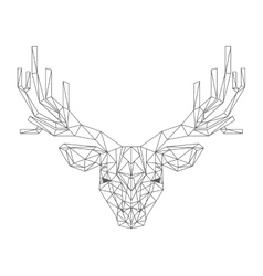 Reindeer head low poly isolated icon vector