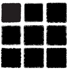 rounded rectangle frame setset vector image