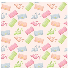seamless bags and shoes pattern vector image vector image