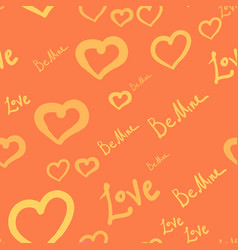 Seamless tile with silhouettes of hearts and love vector