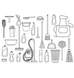 Set of cleaning supplies vector image