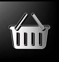 Shopping basket sign gray 3d printed icon vector