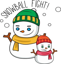 Snowball fight vector