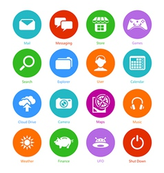 System flat icons - Set I vector image vector image