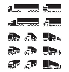 Trucks in different perspective view vector