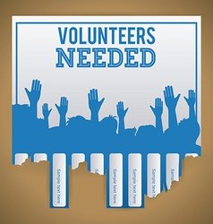 Volunteer design vector