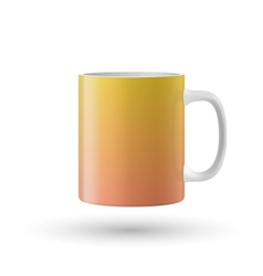 Yellow isolated cup vector image vector image