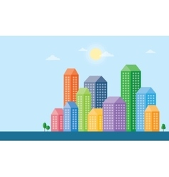 Urban landscape and city life vector