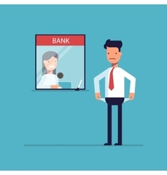 Businessman without money nothing to pay the loan vector