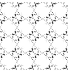 seamless ethnic doodle monochrome pattern vector image