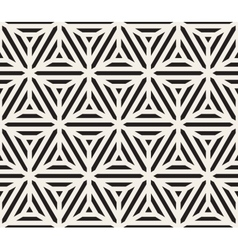 Seamless Black And White Triangle Lines vector image