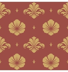 Baroque design wallpaper vector