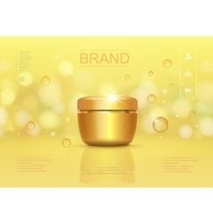 Cosmetic cream container template vector