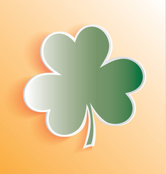 3d clover sticker peeling away vector