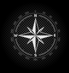 Compass directions dark background vector