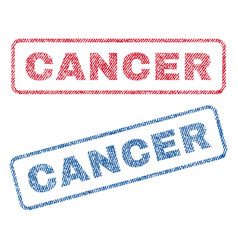 Cancer textile stamps vector