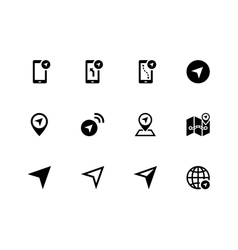 Navigator icons on white background vector