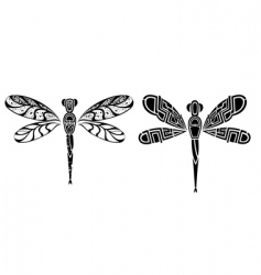 Dragonfly tattoo design vector