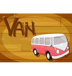 A frame with a van vector